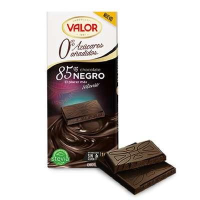 Горький шоколад 85% без сахара Valor 100 гр, фото 2