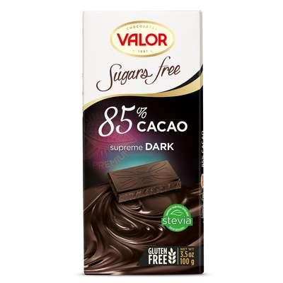 Горький шоколад 85% без сахара Valor 100 гр, фото 1