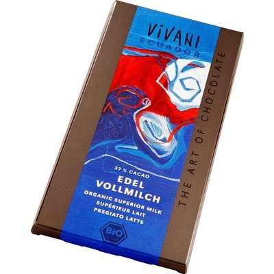 Шоколад органик молочный 37% какао из Эквадора/Кариб Vivani 100 гр, фото 2