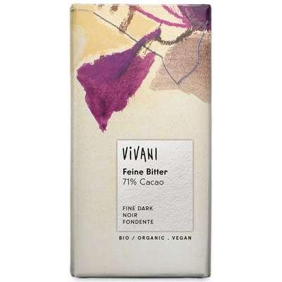 Шоколад органик горький 71% какао Vivani 100 гр, фото 1