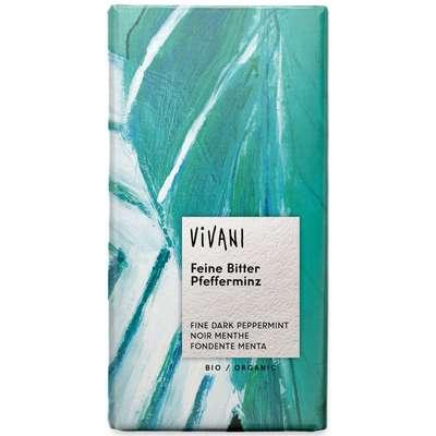 Шоколад органик горький с мятной начинкой Vivani 100 гр, фото 1