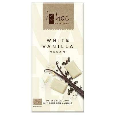 Шоколад органик веганский белый на рисовом молоке iChoc Vivani 80 гр, фото 1