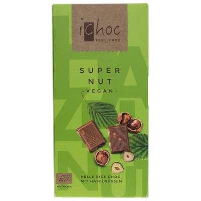 Шоколад органик веганский на рисовом молоке 37% какао с дробленным фундуком 20%  iChoc Vivani 80 гр, фото 1