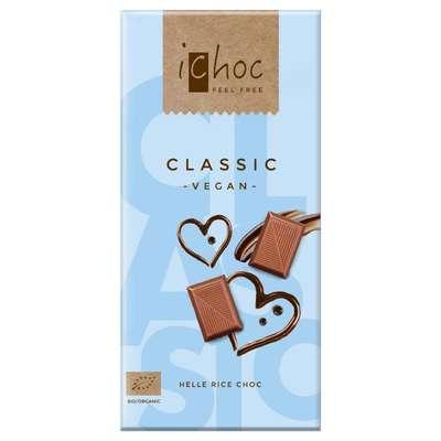 Шоколад органик веганский на рисовом молоке 37% какао iChoc Vivani 80 гр, фото 1