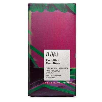 Шоколад органик горький с цельным фундуком 20% Vivani 100 гр, фото 1