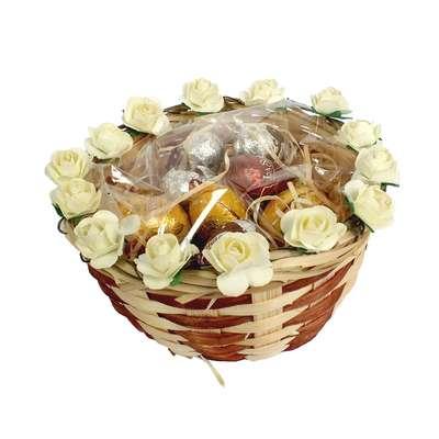 Подарочная пасхальная корзинка с шоколадными яйцами La Suissa, фото 3