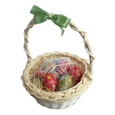 Подарочная корзина с большими пасхальными шоколадными яйцами La Suissa, фото 2