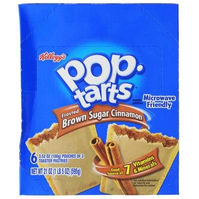 Печенье с начинкой корица без глазури Pop-Tarts Frosted Brown Sugar Cinnamon 104 гр, фото 2