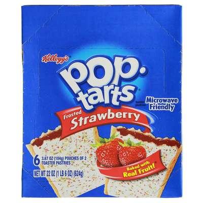 Печенье с начинкой клубника Frosted Strawberry Pop-Tarts 104 гр, фото 2