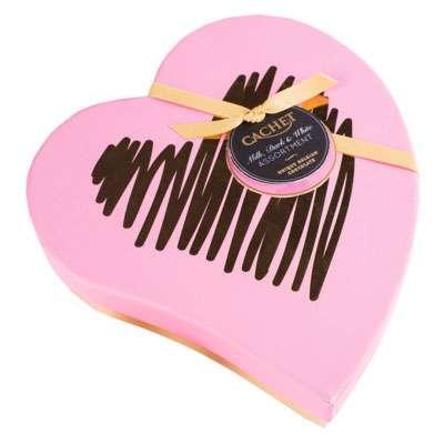 Шоколадные премиальные конфеты Heart Box Assorted Chocolates Cachet Kim's 190 гр, фото 2