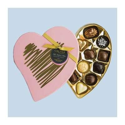 Шоколадные премиальные конфеты Heart Box Assorted Chocolates Cachet Kim's 190 гр, фото 3