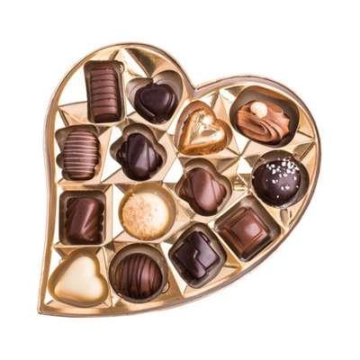 Шоколадные премиальные конфеты Heart Box Assorted Chocolates Cachet Kim's 190 гр, фото 4