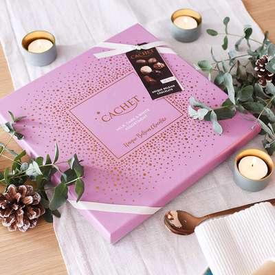 Шоколадные премиальные конфеты Medium Luxury Belgian Chocolates Cachet 315 гр, фото 4