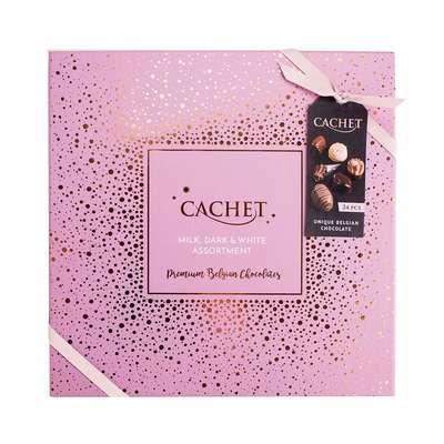 Шоколадные премиальные конфеты Medium Luxury Belgian Chocolates Cachet 315 гр, фото 1