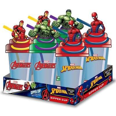 Стакан с фигуркой Мстителей и конфеты Sipper Cup Candy Fan 25 гр, фото 4
