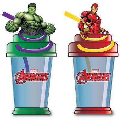 Стакан с фигуркой Мстителей и конфеты Sipper Cup Candy Fan 25 гр, фото 2