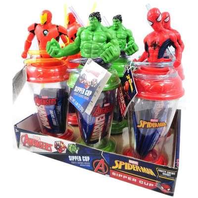 Стакан с фигуркой Мстителей и конфеты Sipper Cup Candy Fan 25 гр, фото 3