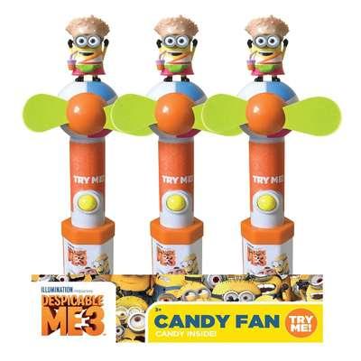 Миньон вентилятор и конфеты Minions Despicable ME 3 Candy Fan 16 гр, фото 2