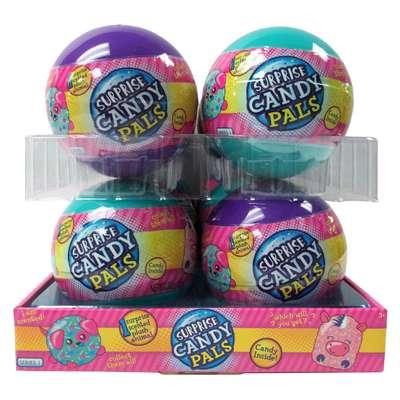 Шар с мягкой игрушкой и конфетами Surprise Candy Pals Candy Fan 10 гр, фото 4