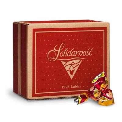 Шоколадные конфеты с миндалем Золотое Альмондо Solidarnosc 2,5 кг, фото 1