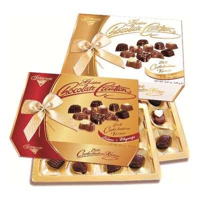 Золотое Шоколадное Творение Solidarnosc коробка конфет с бантом микс 228 гр, фото 2