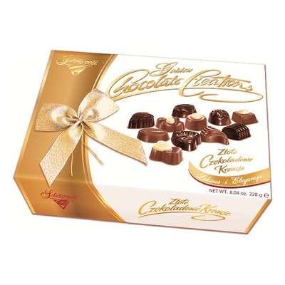 Золотое Шоколадное Творение Solidarnosc коробка конфет с бантом микс 228 гр, фото 3