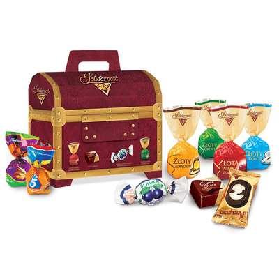 Большой набор шоколадных конфет Сундучок Коллекция Solidarnosc 1 кг, фото 1