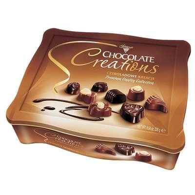 Конфеты ассорти с начинками Шоколадное Творение Solidarnosc коробка жесть 228 гр, фото 2