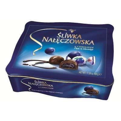 Наленчовская слива коробка жесть Solidarnosc 490 гр, фото 1
