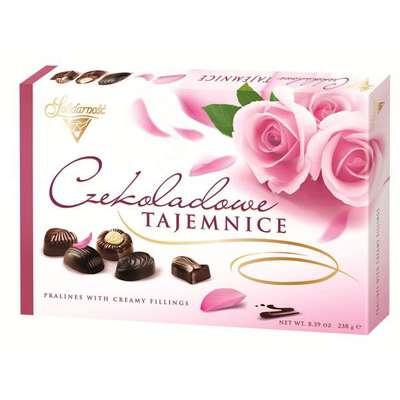 Коробка конфет Шоколадные Секреты Розы Solidarnosc 238 гр, фото 3