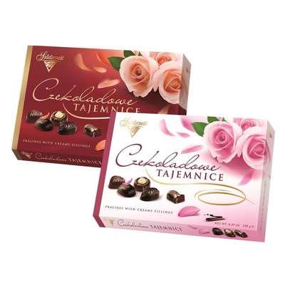 Коробка конфет Шоколадные Секреты Розы Solidarnosc 238 гр, фото 1