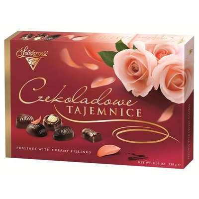 Коробка конфет Шоколадные Секреты Розы Solidarnosc 238 гр, фото 2