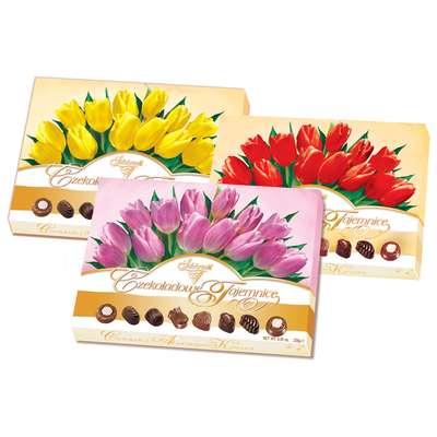 Коробка конфет Шоколадные Секреты Тюльпаны Solidarnosc 238 гр, фото 2