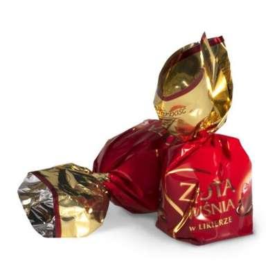Zlota Wisnia Конфеты шоколадные с вишней в ликёре Solidarnosc коробка жесть 365 гр, фото 2