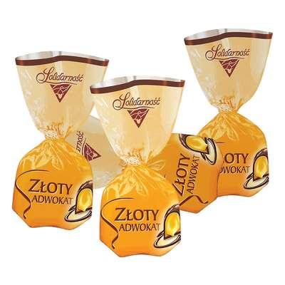 Шоколадные ликерные конфеты Золотой Адвокат Solidarnosc 100 гр, фото 2