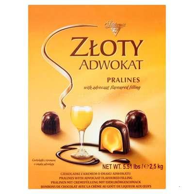 Шоколадные ликерные конфеты Золотой Адвокат Solidarnosc 2 кг, фото 1