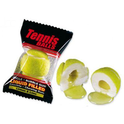 Жвачка с начинкой лимон и лайм Гигант Теннисные мячики Fini 16 гр x 50 шт, фото 2