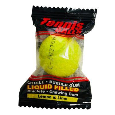 Жвачка с начинкой лимон и лайм Гигант Теннисные мячики Fini 16 гр x 50 шт, фото 3
