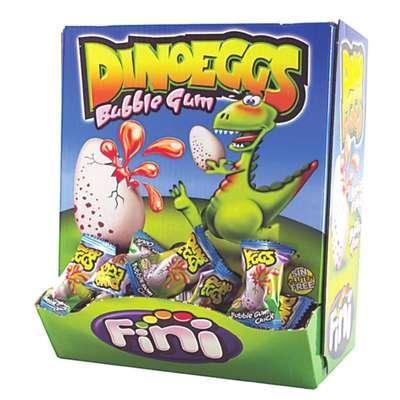 Жевательная резинка с клубничной начинкой Яйцо Динозавра Fini 5,5 гр x 200 шт, фото 5