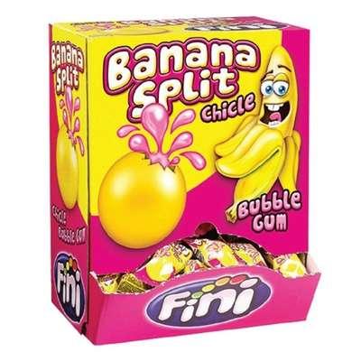 Жевательная резинка с клубничным наполнителем Банан Fini 5 гр x 200 шт, фото 5