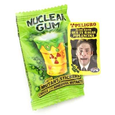 Жвачка с начинкой клубника лимон лайм и наклейкой Гигант Ядерный взрыв Fini 14 гр x 50 шт, фото 2
