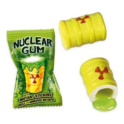 Жвачка с начинкой клубника лимон лайм и наклейкой Гигант Ядерный взрыв Fini 14 гр x 50 шт, фото 3