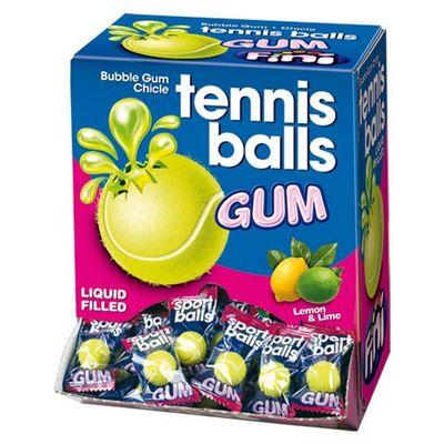 Жевательная резинка с начинкой лимон лайм Теннисные мячики Fini 5 гр x 200 шт, фото 4