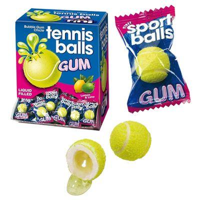 Жевательная резинка с начинкой лимон лайм Теннисные мячики Fini 5 гр x 200 шт, фото 1