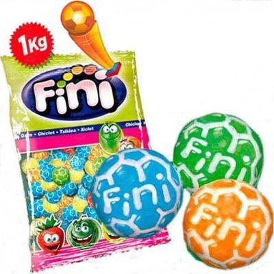 Жевательная резинка Футбольные мячики кислые Fini 1 кг, фото 4