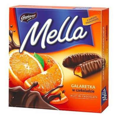 Мармелад в шоколаде Апельсин Mella Goplana 190 гр, фото 1