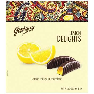 Мармелад в шоколаде Лимон Веселые фрукты Goplana 190 гр, фото 1