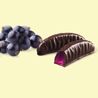 Мармелад в шоколаде Черная смородина Веселые фрукты Goplana 190 гр, фото 2