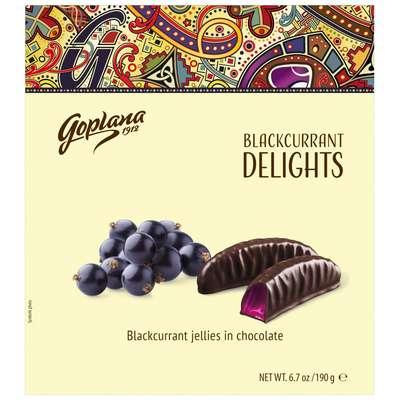 Мармелад в шоколаде Черная смородина Веселые фрукты Goplana 190 гр, фото 1