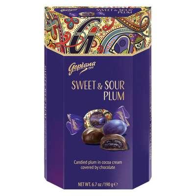 Шоколадные конфеты слива в шоколаде Sweet and Sour Plum Goplana 190 гр, фото 1